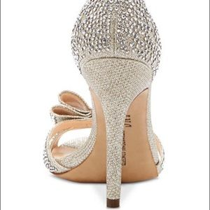 INC International Concepts Shoes - INC Ressie 2 Sparkly Evening Sandals  with Bow